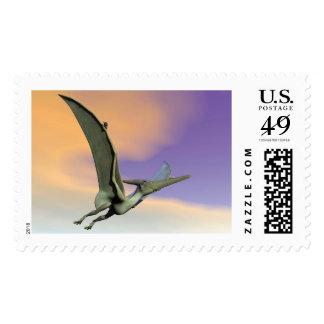 Pteranodon dinosaur flying - 3D render Postage