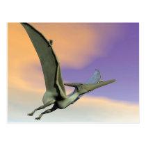 Pteranodon dinosaur flying - 3D render Postcard
