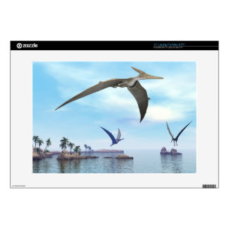 "Pteranodon dinosaurs flying - 3D render 15"" Laptop Skin"