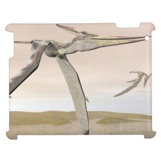 Pteranodon dinosaurs flying - 3D render iPad Cover