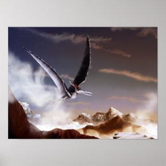 Pterodactyl - 12x16 Dinosaur Poster Print