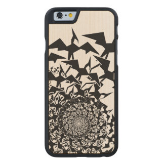 Pterodactyl de Fractyl Funda De iPhone 6 Carved® Slim De Arce