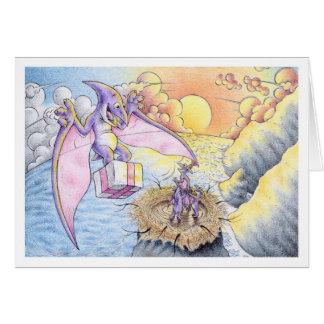 Pterodactyl del cumpleaños tarjeta de felicitación