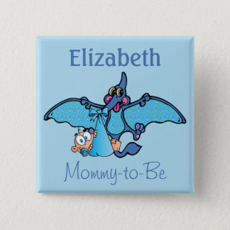 Pterodactyl Dinosaur It's a Boy Baby Shower Pinback Button