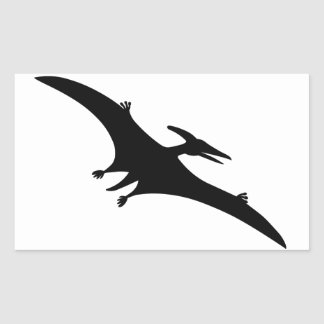 Pterodactyl Dinosaur Rectangular Sticker