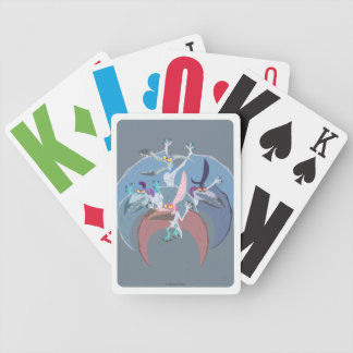 Pterodactyl Group Stack Bicycle Playing Cards