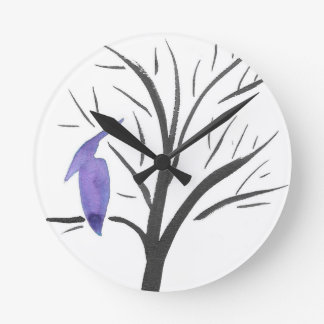 Pterodactyl In A Tree Round Clock