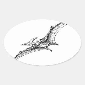 Pterodactyl Oval Sticker