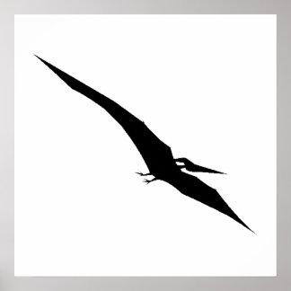 Pterodactyl Silhouette Print