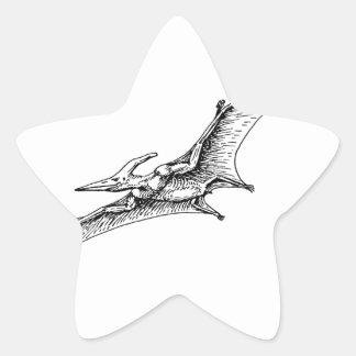 Pterodactyl Star Sticker