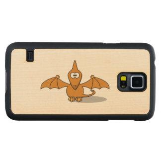 Pterodactyl Toony Art Carved® Maple Galaxy S5 Slim Case