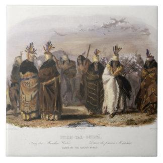 Ptihn-Tak-Ochata, Dance of the Mandan Women, plate Ceramic Tile