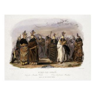 Ptihn-Tak-Ochata, Dance of the Mandan Women, plate Postcard
