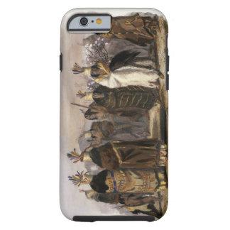 Ptihn-Tak-Ochata, Dance of the Mandan Women, plate Tough iPhone 6 Case