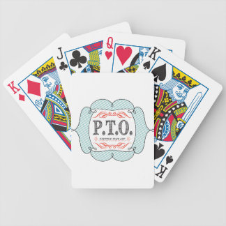 PTO PRETEND TIME OFF BICYCLE PLAYING CARDS