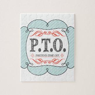 PTO PRETEND TIME OFF PUZZLE