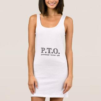 PTO PRETEND TIME OFF SLEEVELESS DRESS