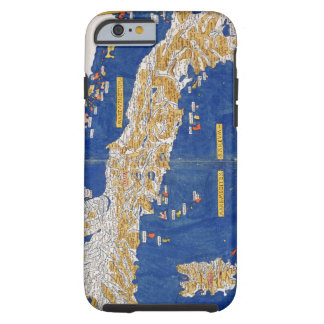 Ptolemaic Map of Italy, 1482 (coloured litho) Tough iPhone 6 Case