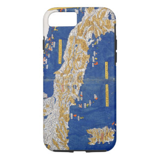Ptolemaic Map of Italy, 1482 (coloured litho) iPhone 8/7 Case
