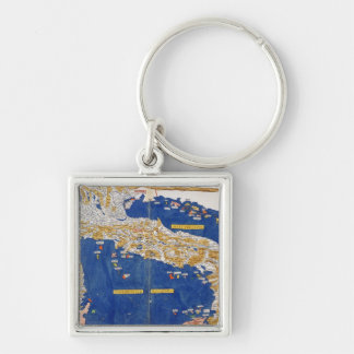 Ptolemaic Map of Italy, 1482 (coloured litho) Keychains