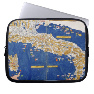 Ptolemaic Map of Italy, 1482 (coloured litho) Laptop Sleeve