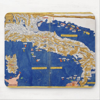 Ptolemaic Map of Italy, 1482 (coloured litho) Mouse Pad