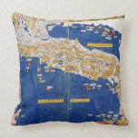 Ptolemaic Map of Italy, 1482 (coloured litho) Pillow