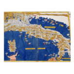 Ptolemaic Map of Italy, 1482 (coloured litho) Postcard