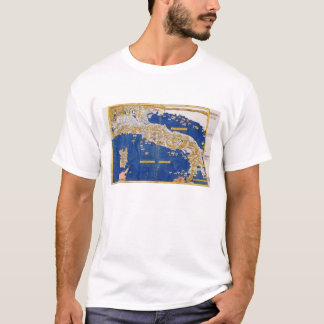 Ptolemaic Map of Italy, 1482 (coloured litho) T-Shirt
