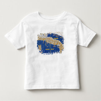 Ptolemaic Map of Italy, 1482 (coloured litho) Toddler T-shirt
