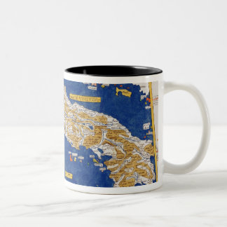 Ptolemaic Map of Italy, 1482 (coloured litho) Two-Tone Coffee Mug