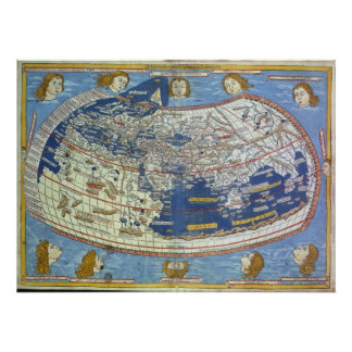 Ptolemaic World Map Poster