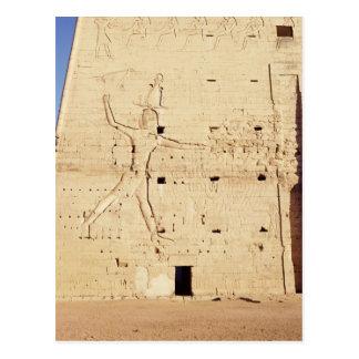 Ptolemy XII  smiting his enemies Postcard