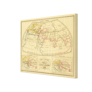 Ptolemy's Geography Canvas Print