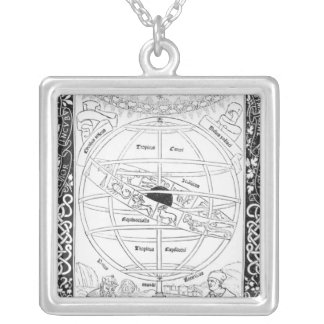 Ptolemy's System Silver Plated Necklace