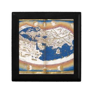 Ptolemy's world map jewelry box
