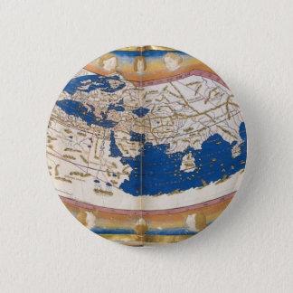 Ptolemy's world map pinback button