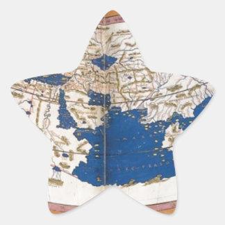 Ptolemy's world map star sticker