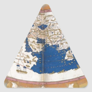 Ptolemy's world map triangle sticker