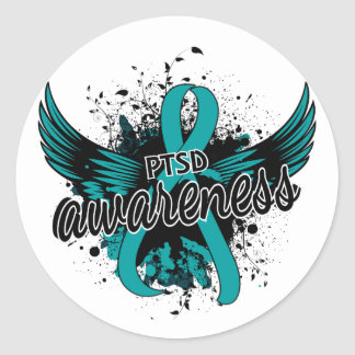 PTSD Awareness 16 Classic Round Sticker