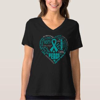 PTSD Awareness Heart Words T-shirt