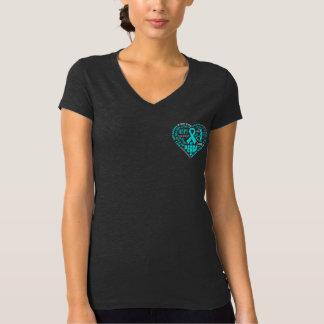 PTSD Awareness Heart Words Tee Shirts
