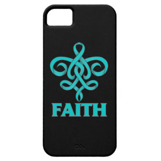 PTSD Faith Fleur de Lis Ribbon iPhone 5 Covers