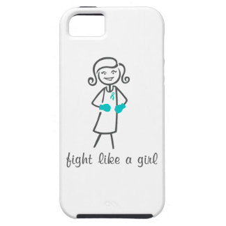 PTSD Fight Like A Girl (Retro) iPhone 5 Cover
