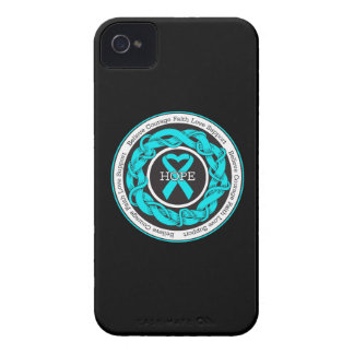 PTSD Hope Intertwined Ribbon iPhone 4 Cases