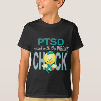 PTSD Messed With Wrong Chick T-Shirt