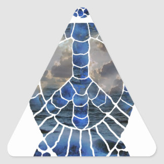 Pturtle.png Triangle Sticker