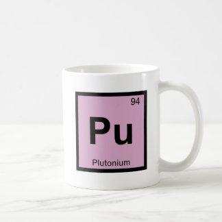 Pu - Plutonium Chemistry Periodic Table Symbol Coffee Mug