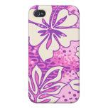 Pua Aloha Heart Hibiscus  iPhone 4 Case