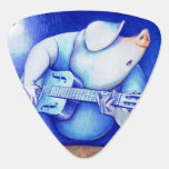 Púa azul porcina uñeta de guitarra